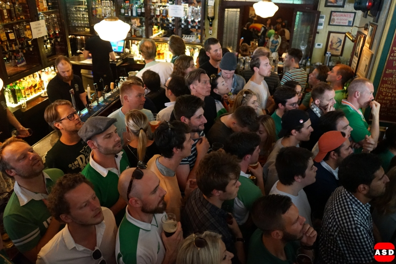 Irish Fans everywhere in Amsterdam